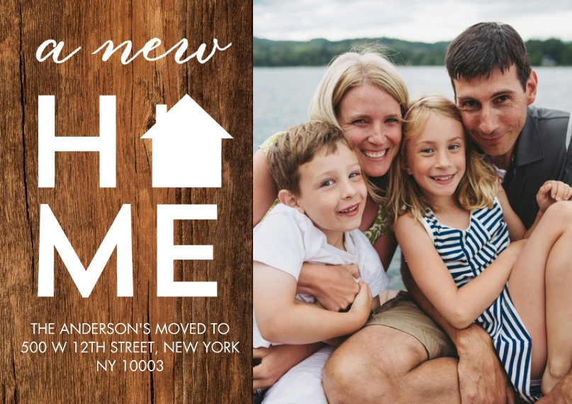 Just Moved Mail-for-Me Premium 5x7 Postcard, Card & Stationery -Moved New Home