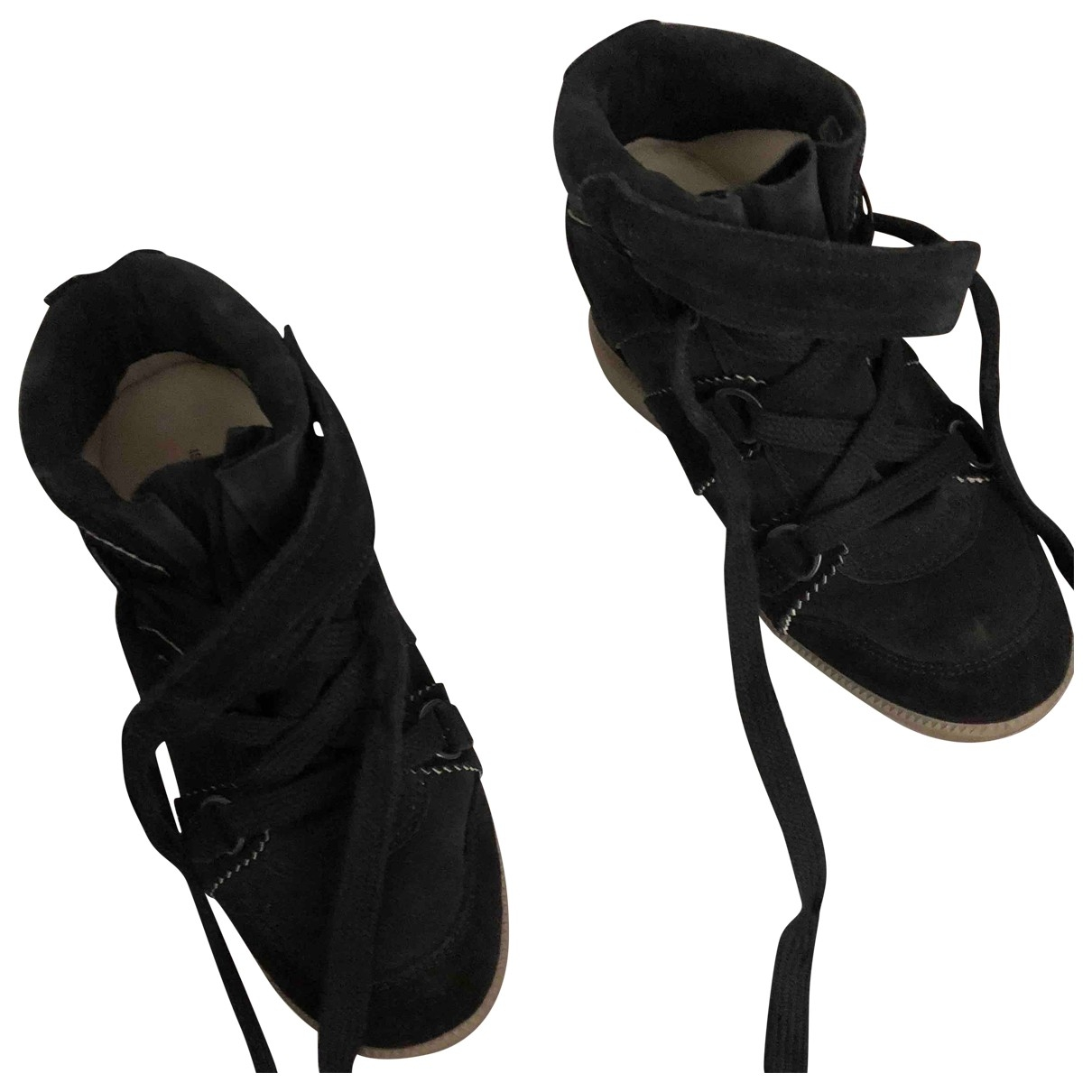 Isabel Marant Bobby Black Suede Trainers for Women 36 EU
