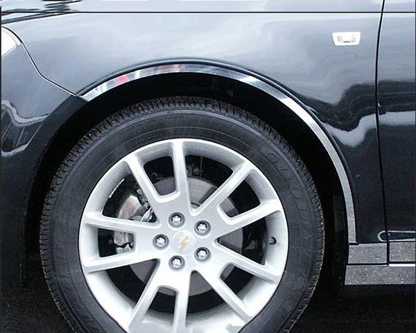 Quality Automotive Accessories 4-Piece Stainless Steel Wheel Well Fender Trim Kit Chevrolet Malibu 2008