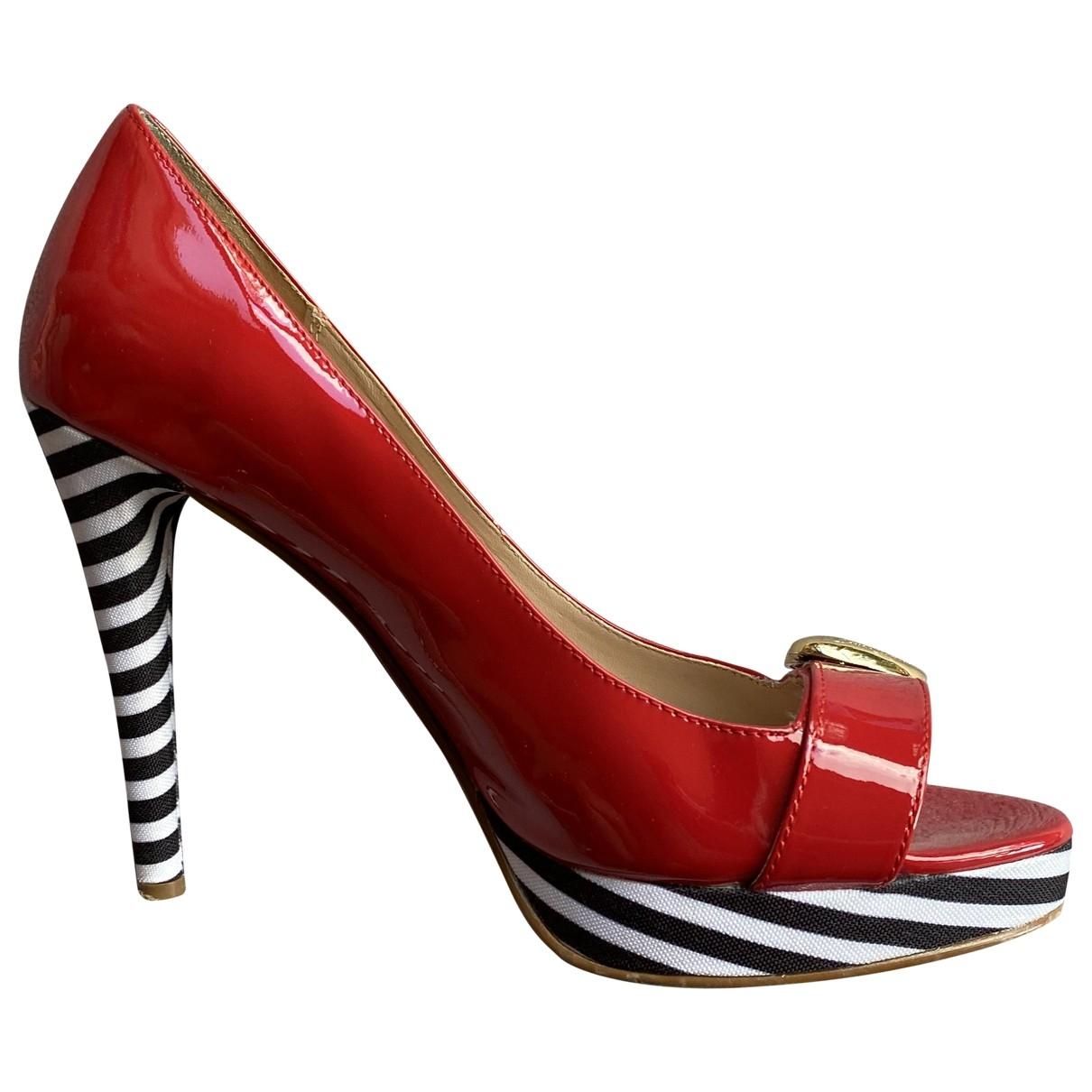 Moschino Love - Escarpins   pour femme en cuir - rouge
