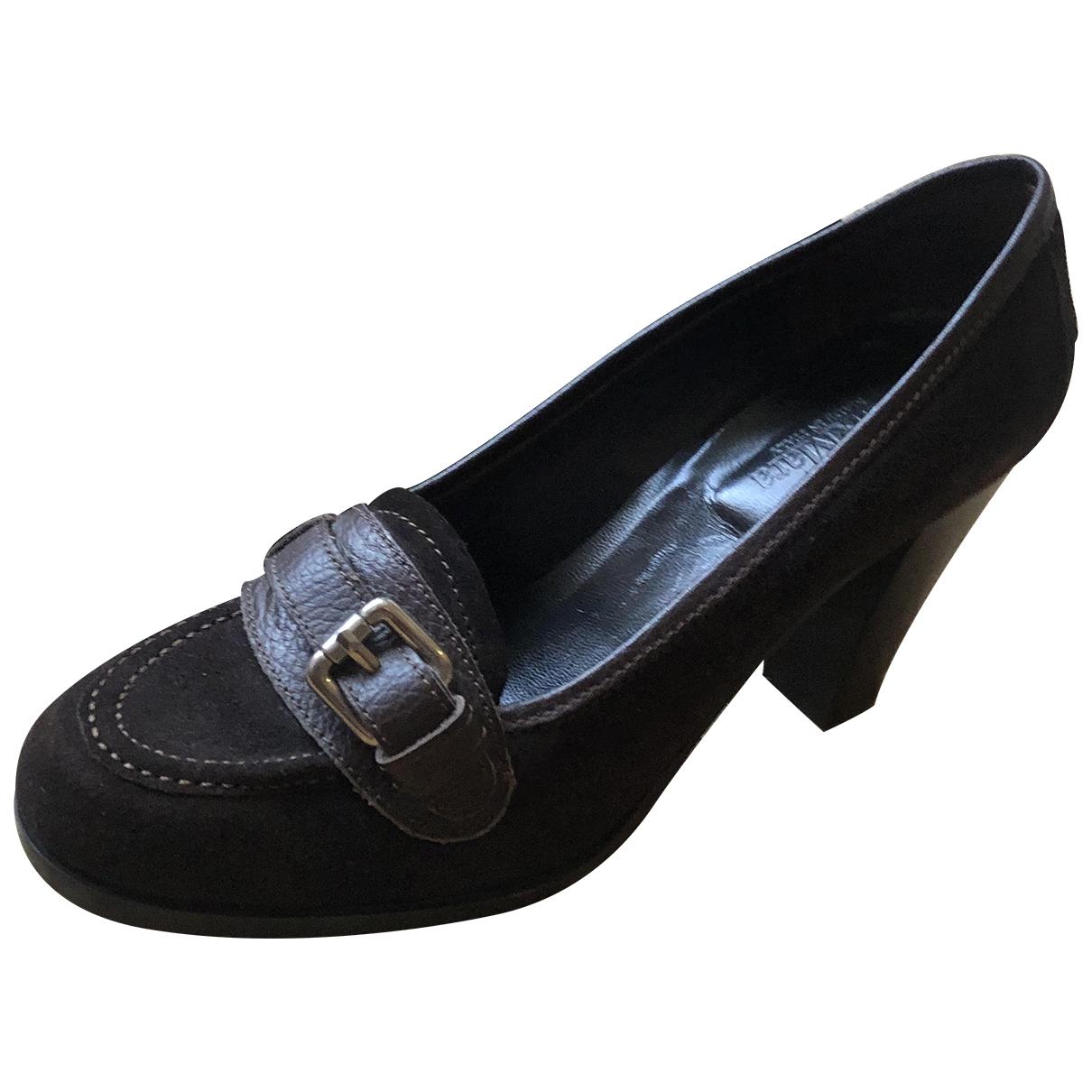 Max Mara \N Brown Leather Heels for Women 39 EU