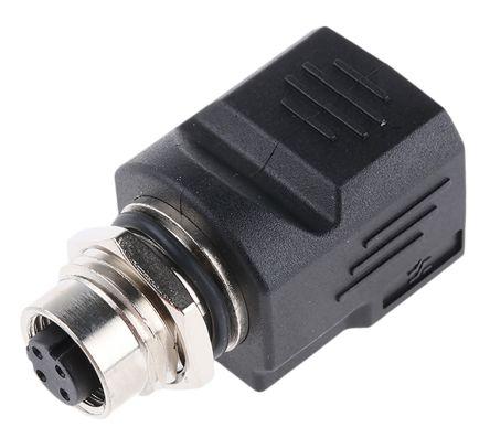 Weidmuller Cat5 M12 Socket/RJ45 Socket Adapter