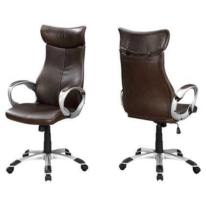 I 7289 Office Chair - Brown Leather-Look / High Back
