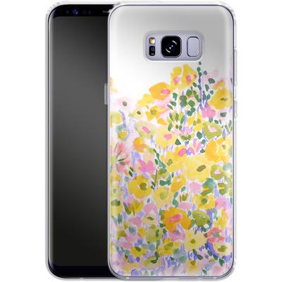 Samsung Galaxy S8 Plus Silikon Handyhuelle - Flower Fields Sunshine von Amy Sia