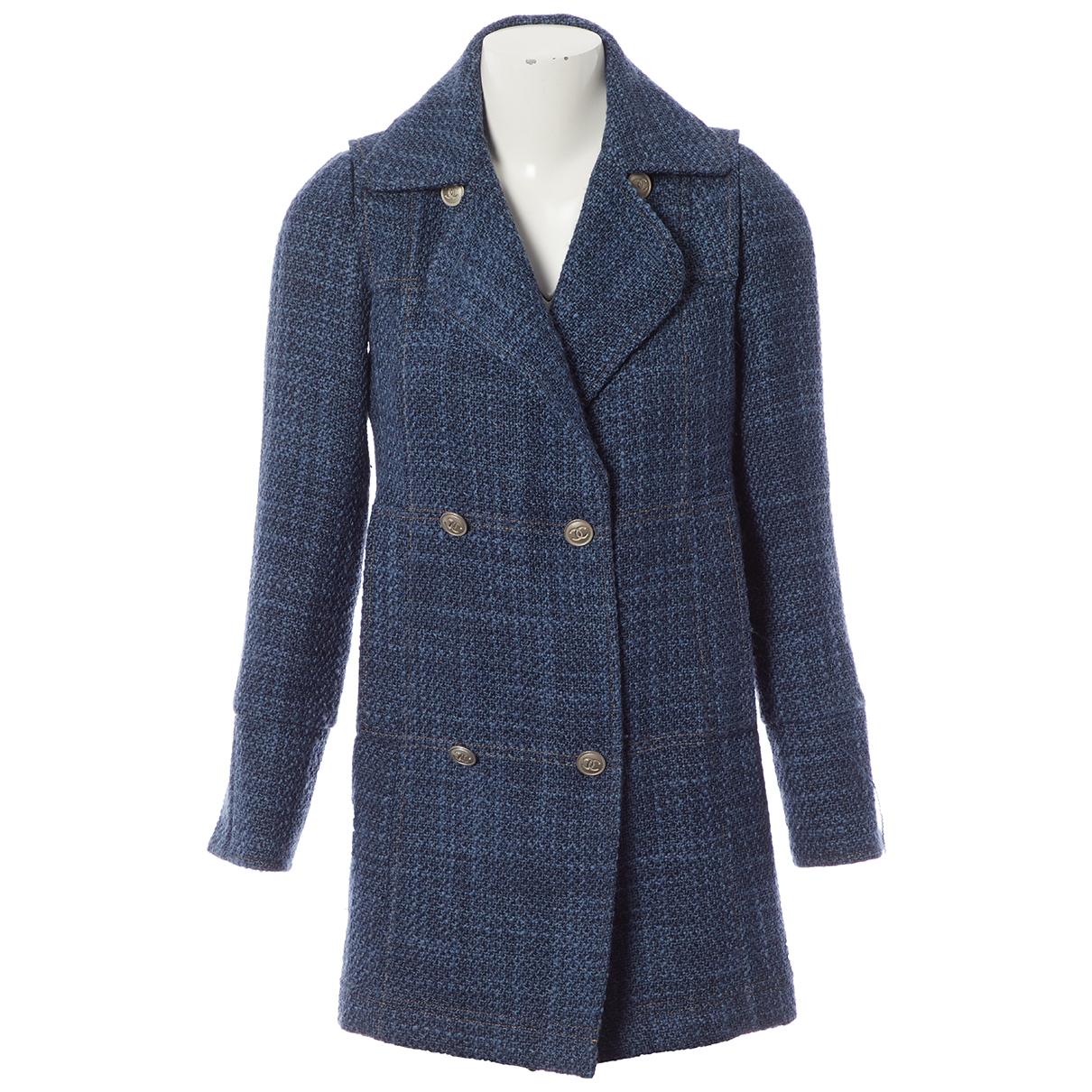 Chanel \N Maentel in  Blau Wolle