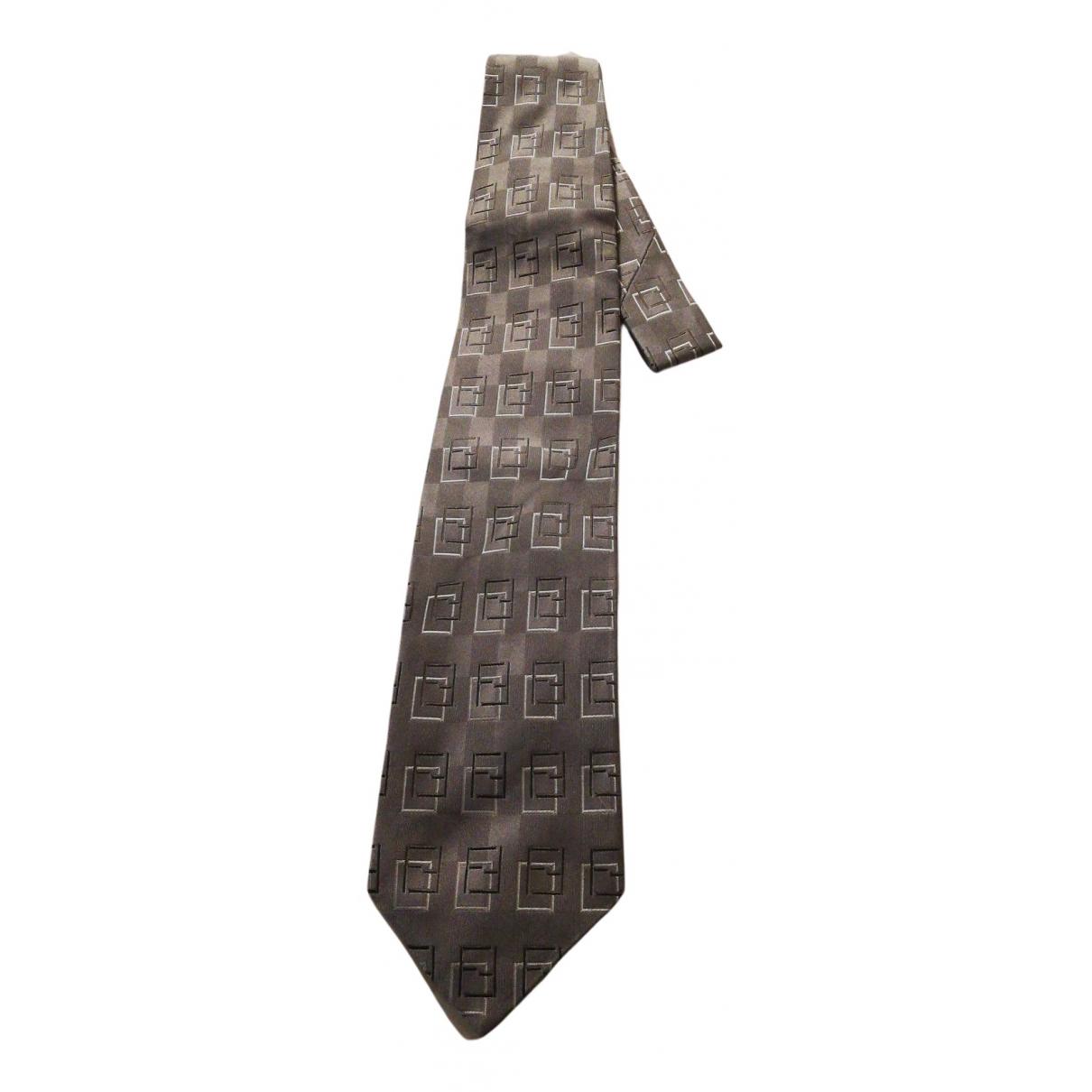 Fendi - Cravates   pour homme en soie - gris
