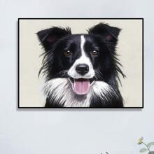 DIY Diamand Malerei mit Hund Muster ohne Rahmen