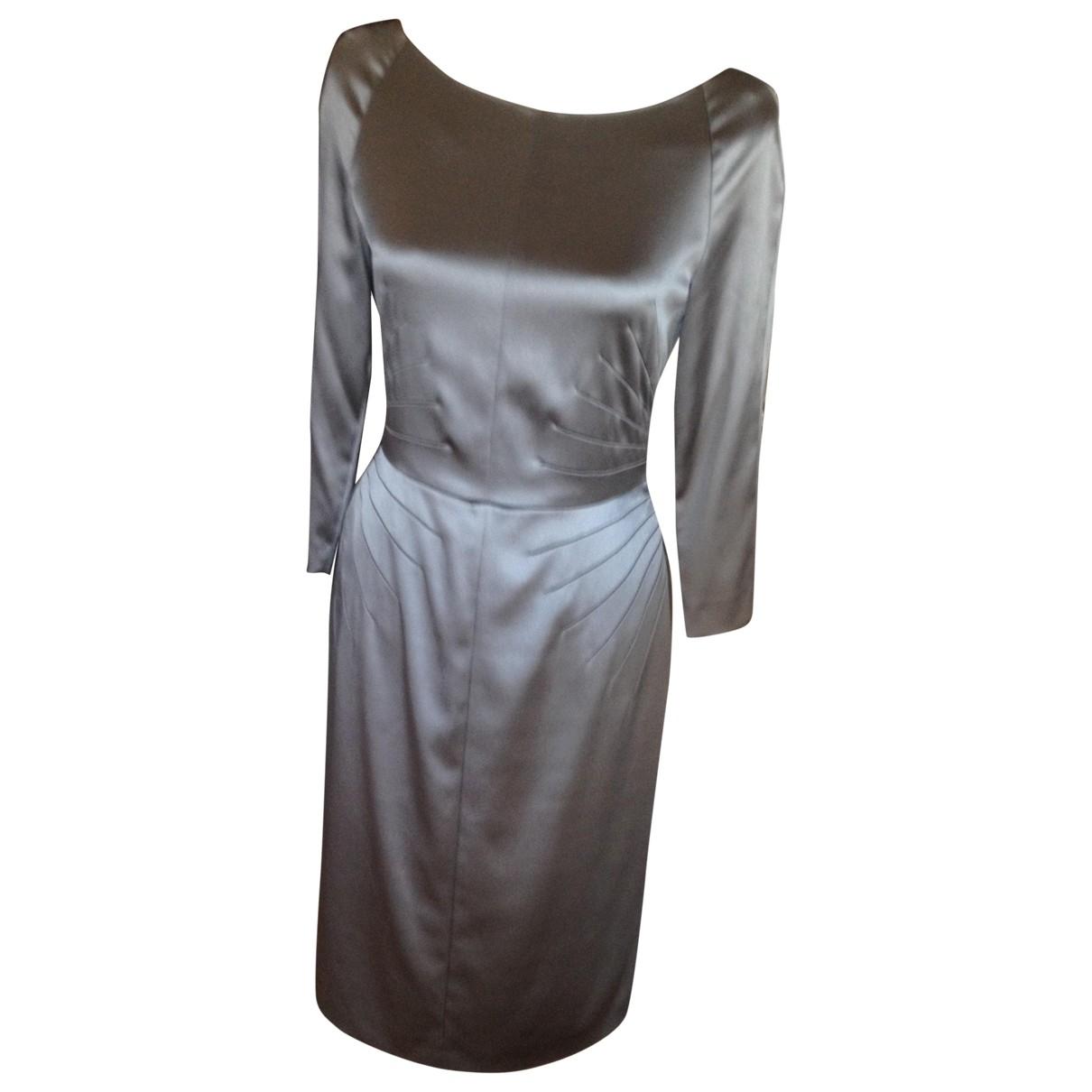 Alberta Ferretti \N Kleid in  Grau Seide