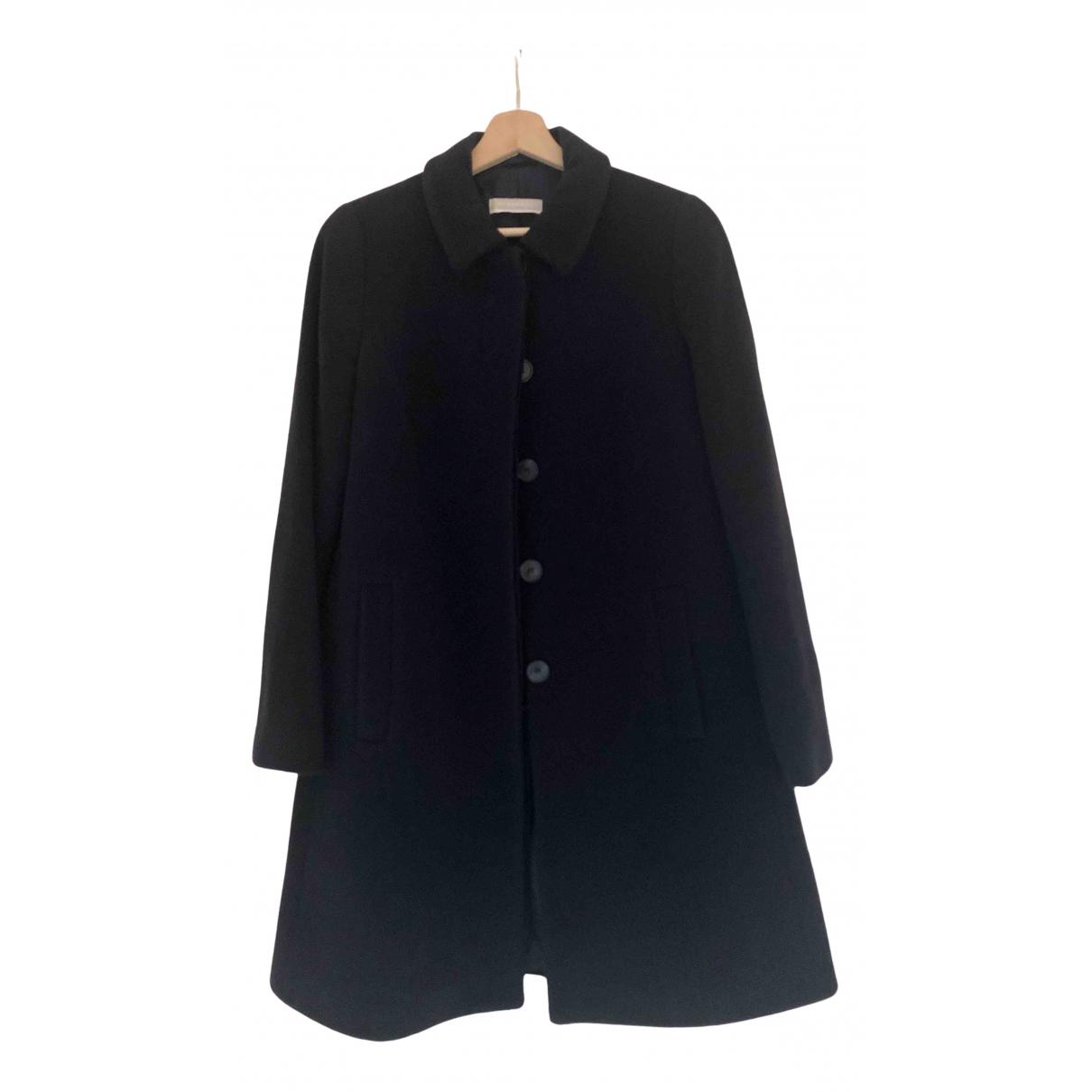 Stefanel - Manteau   pour femme en laine - bleu