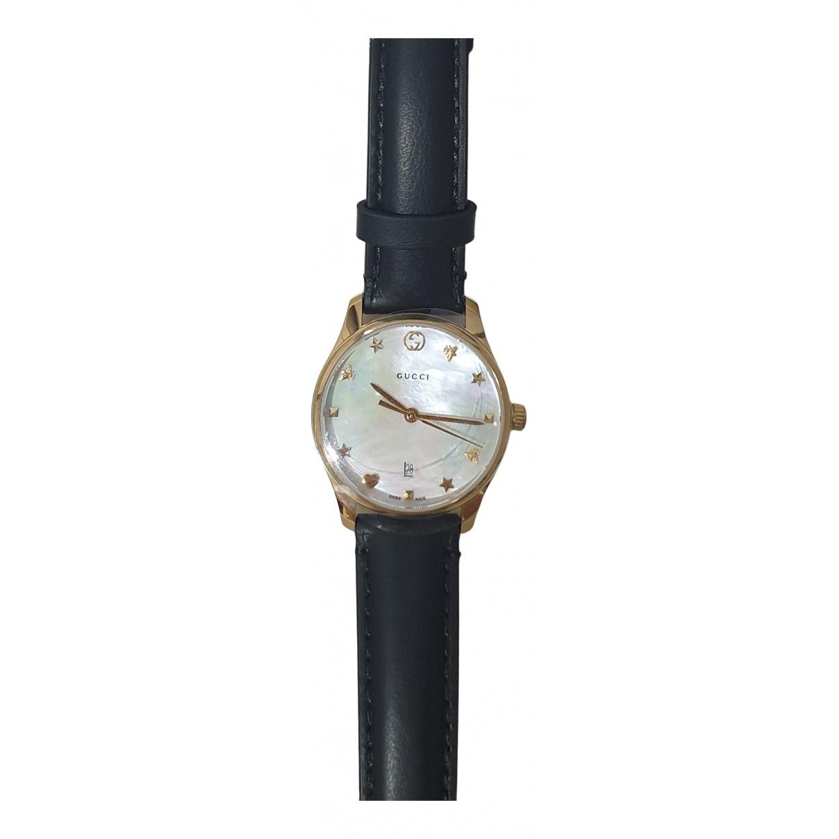 Gucci - Montre G-Timeless pour femme en acier - noir