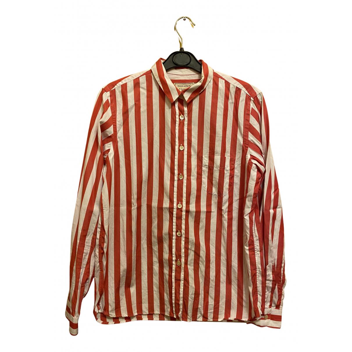 Maison Kitsune - Top   pour femme en coton - rouge