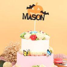 1 Stueck Kuchen Dekoration mit Halloween Kuerbis Design