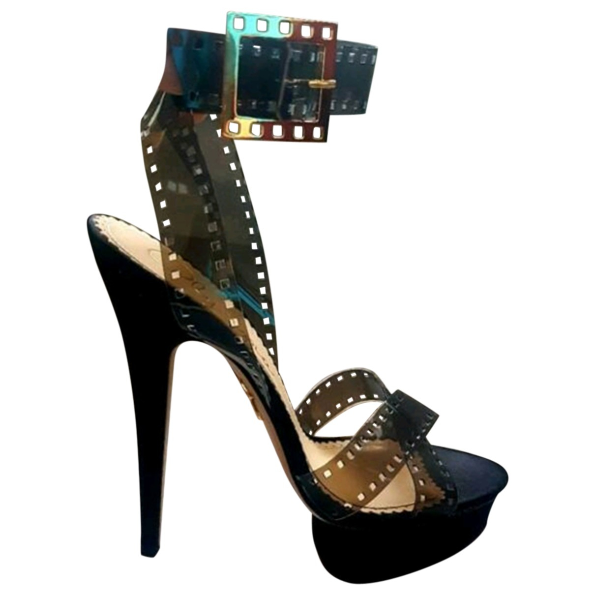 Charlotte Olympia \N Black Cloth Sandals for Women 38 EU