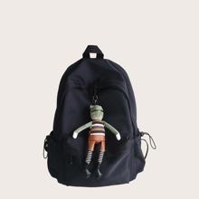 Maenner grosser Rucksack mit Taschendekor