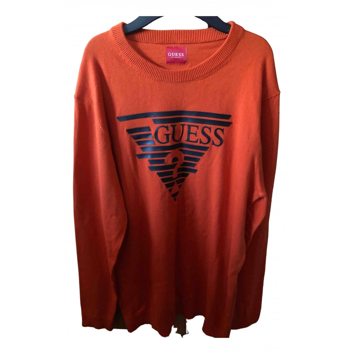 Guess - Pulls.Gilets.Sweats   pour homme en coton - orange