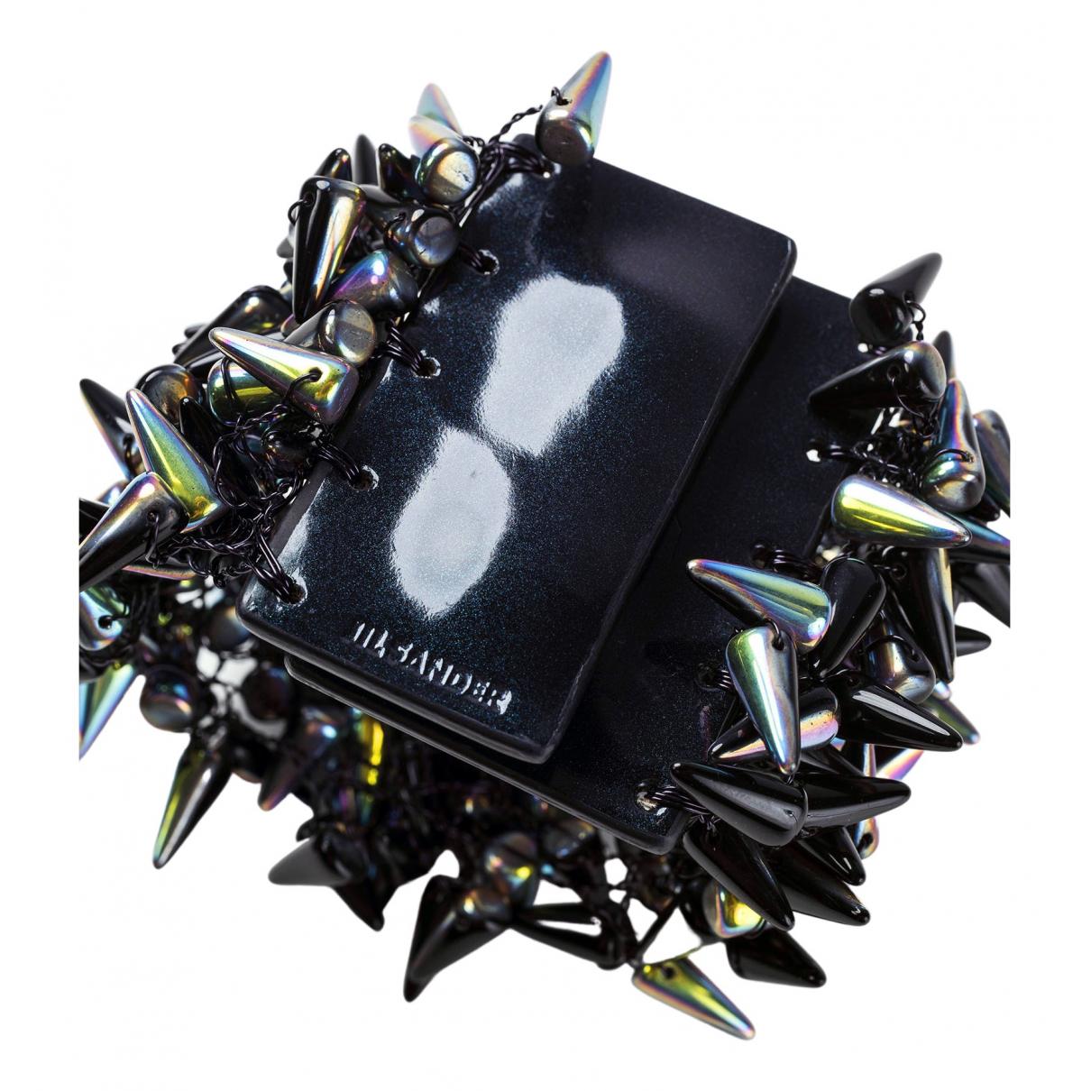 Jil Sander - Bracelet   pour femme en cuir verni - noir