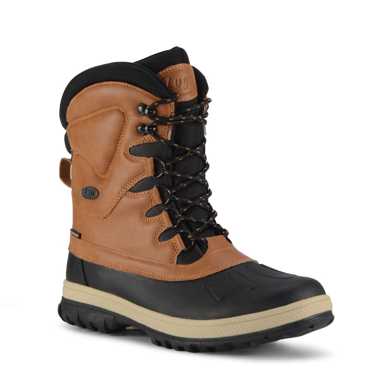 Men's Anorak 8-Inch Waterproof Boot (Choose Your Color: PEANUT/BLACK/CREAM, Choose Your Size: 9.5)