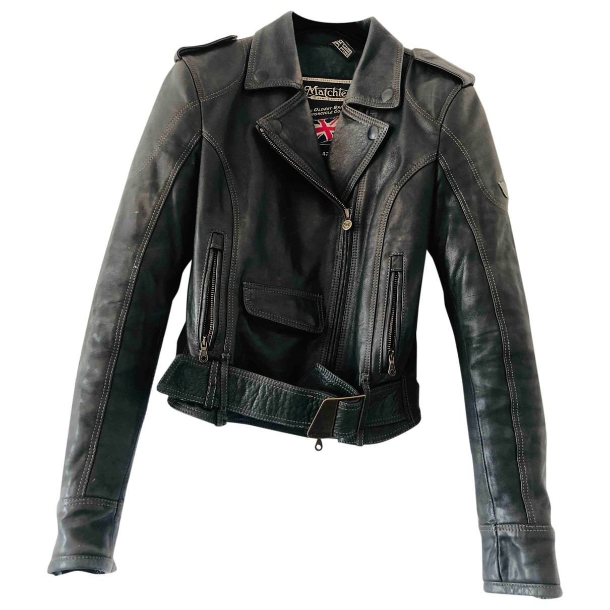 Matchless \N Black Leather jacket for Women 42 IT