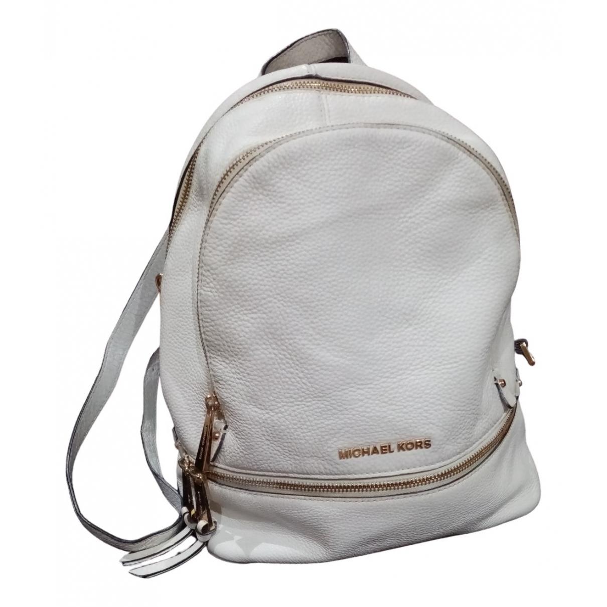 Michael Kors - Sac a dos   pour femme en cuir - blanc
