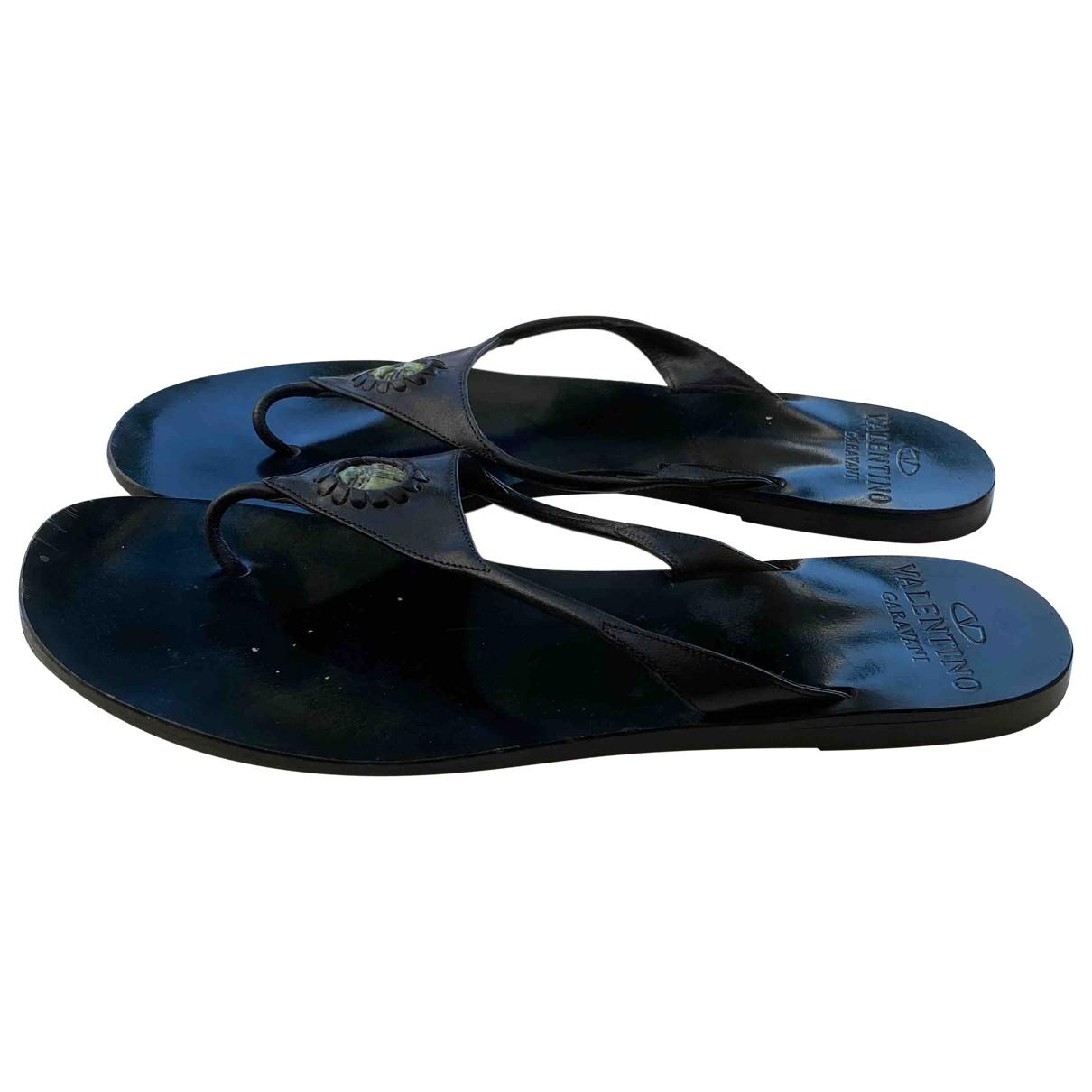 Valentino Garavani \N Black Sandals for Women 38 EU