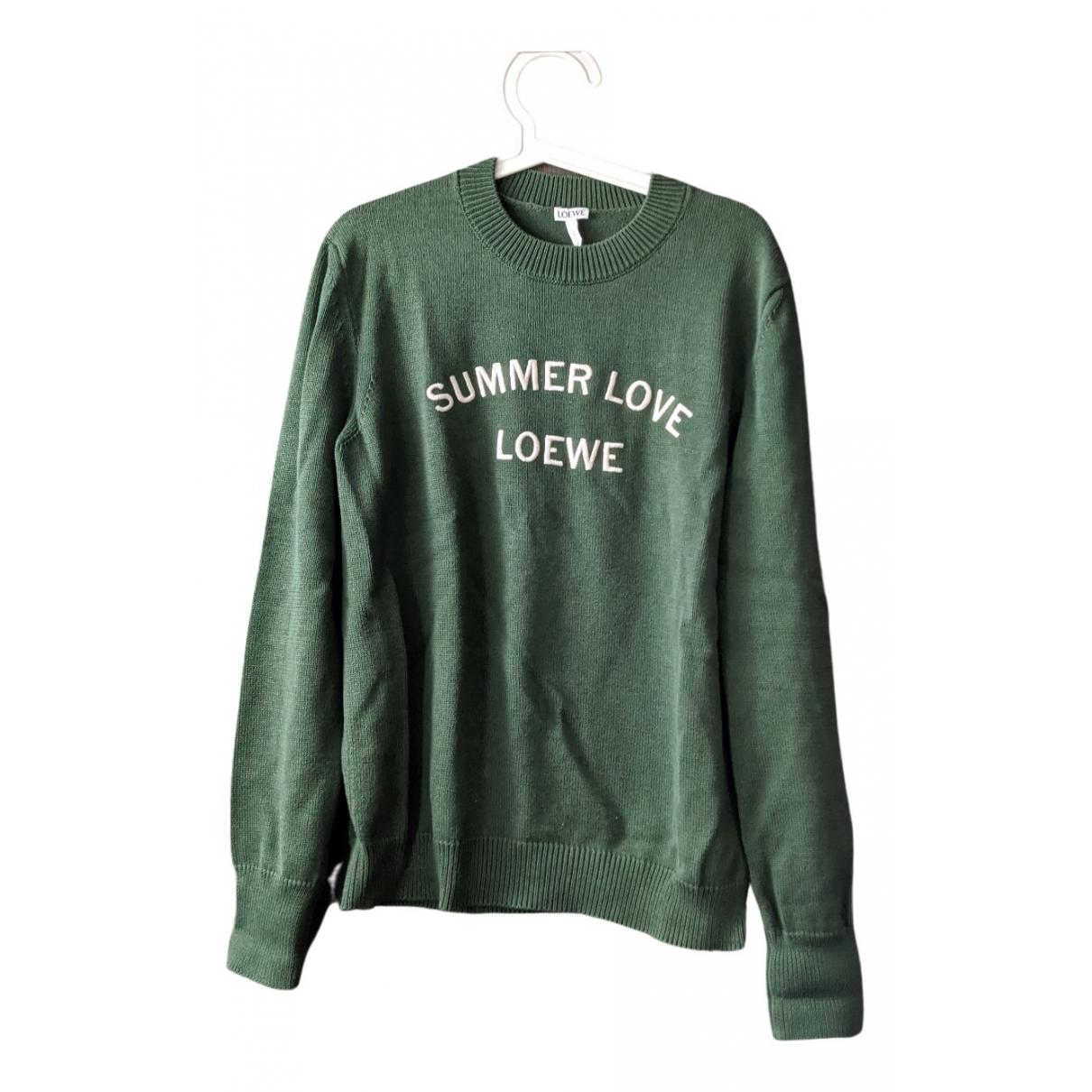 Loewe \N Pullover.Westen.Sweatshirts  in  Gruen Wolle