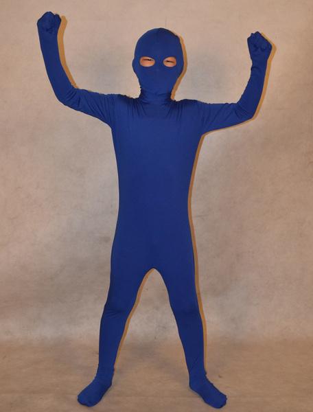 Milanoo Disfraz Halloween Zentai de elastano de marca LYCRA de azul oscuro  Halloween