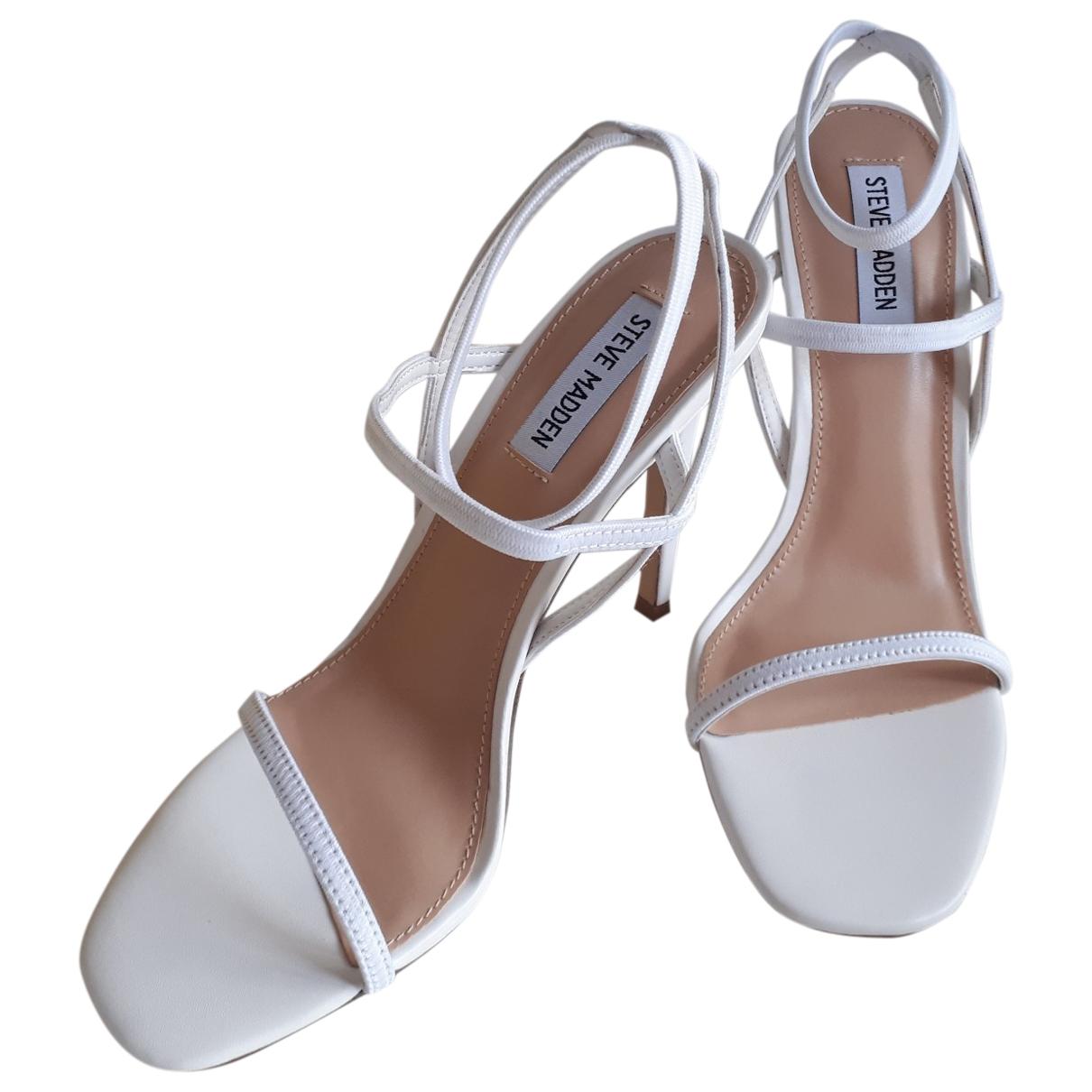 Steve Madden \N White Leather Sandals for Women 41 EU
