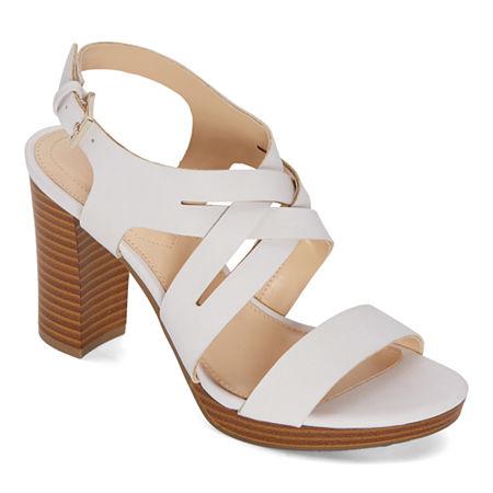Liz Claiborne Womens Prime Heeled Sandals, 9 Medium, White