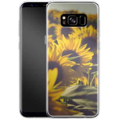 Samsung Galaxy S8 Silikon Handyhuelle - Sunflower 2 von Joy StClaire