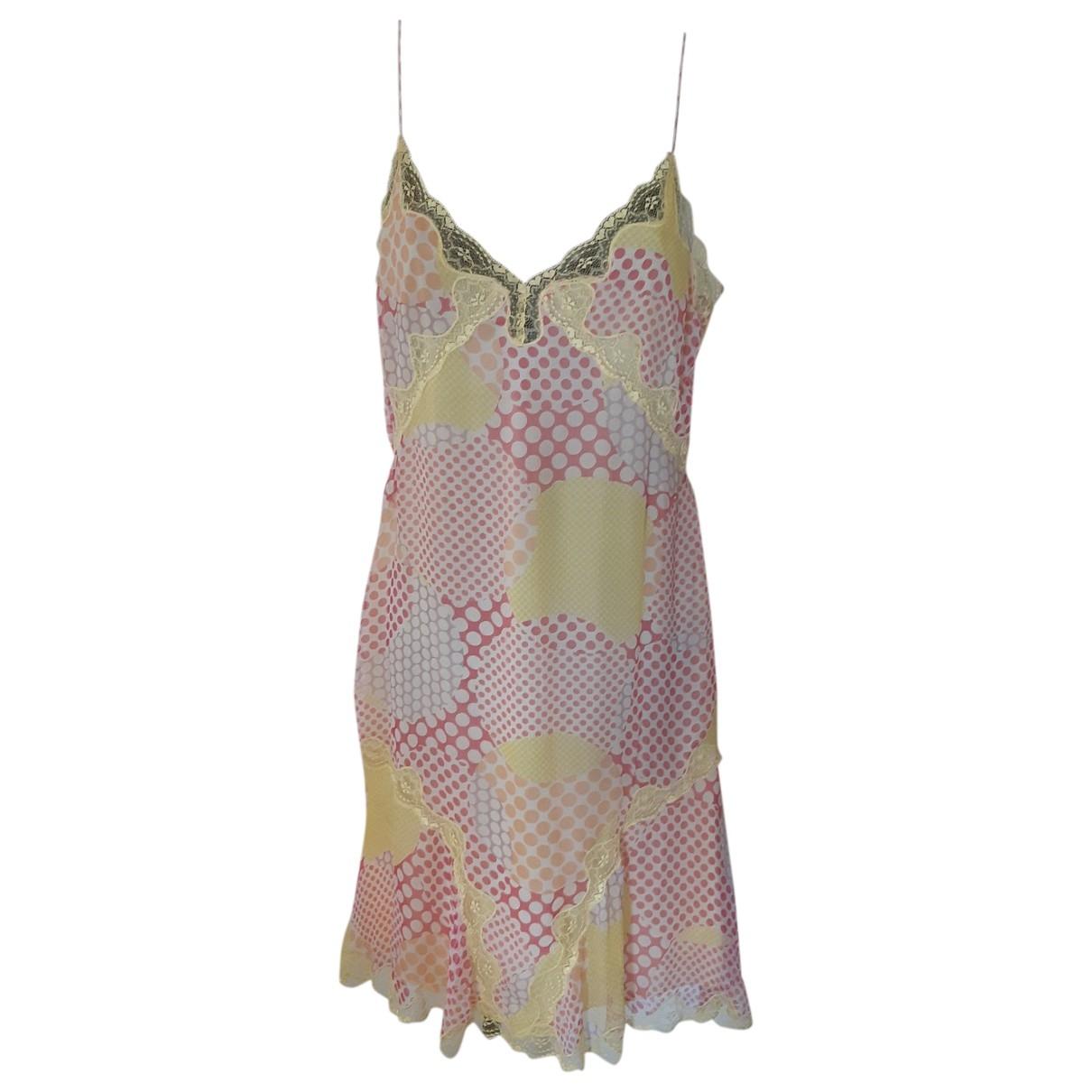 Blumarine \N Kleid in  Gelb Viskose