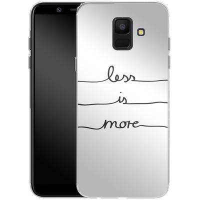 Samsung Galaxy A6 Silikon Handyhuelle - Less Is More von Mareike Bohmer