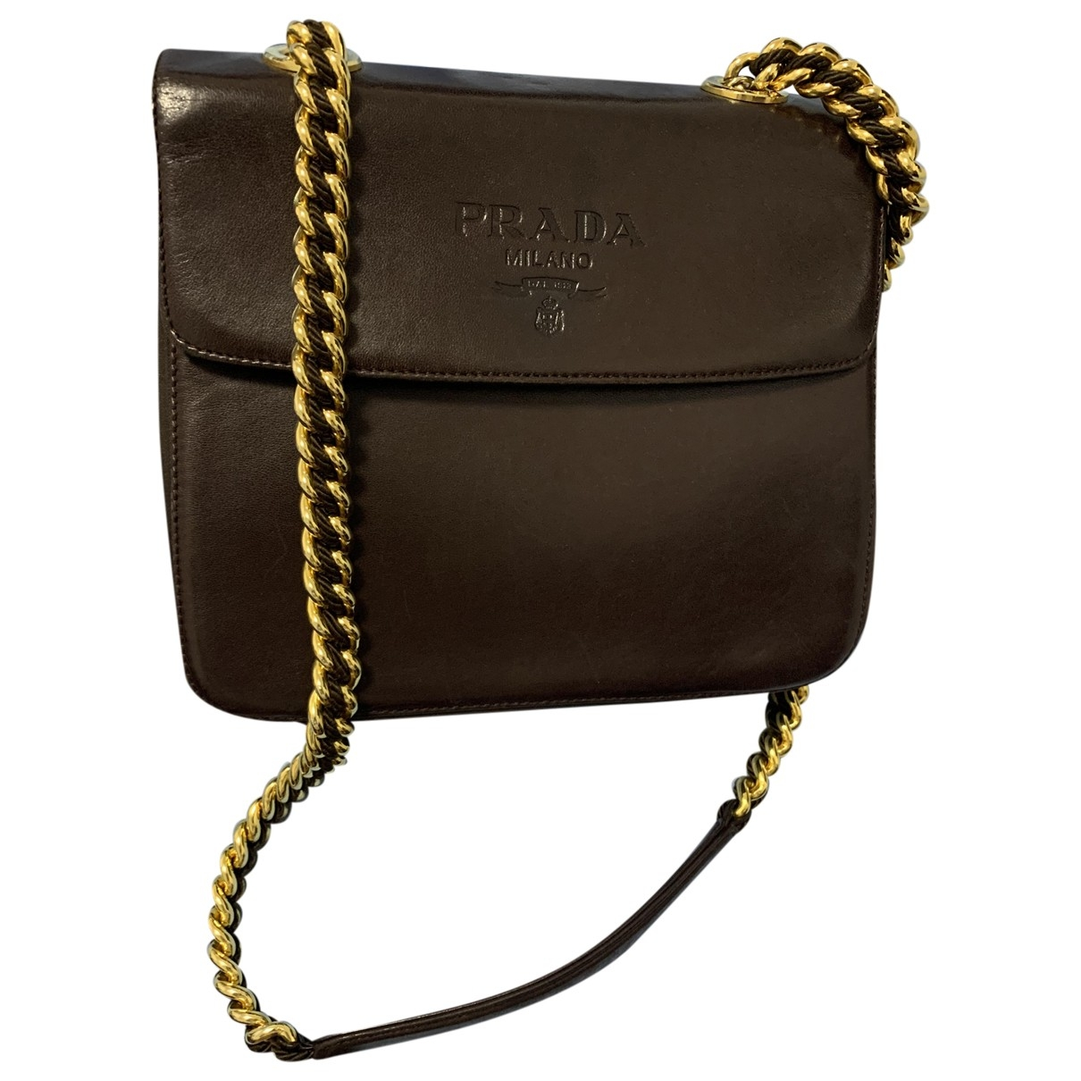 Prada \N Brown Leather handbag for Women \N