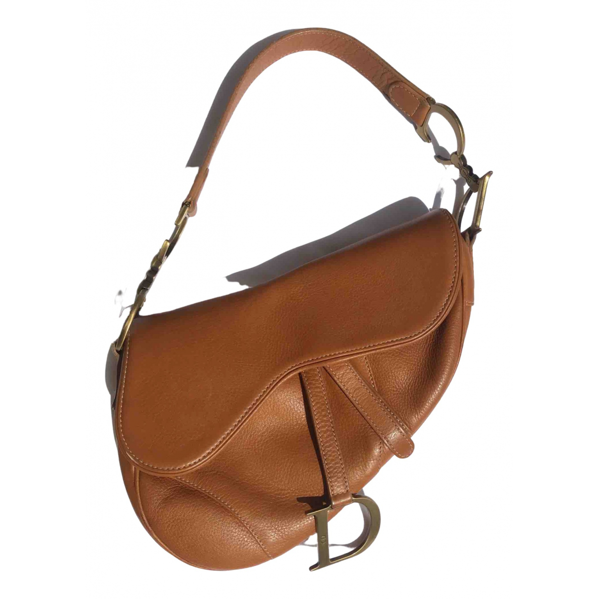 Dior Saddle Handtasche in  Kamel Leder