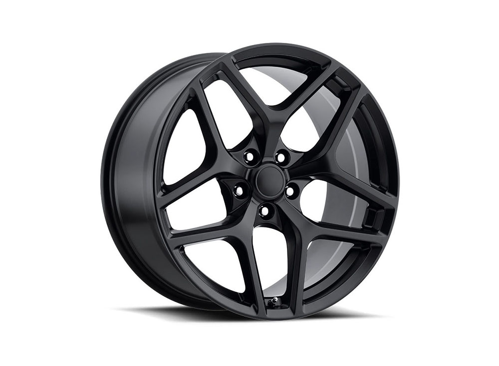 Factory Reproduction Series 27 Wheels 20x10 5x120 +35 HB 66.9 Camaro Z28 Style 27 Satin Black w/Cap