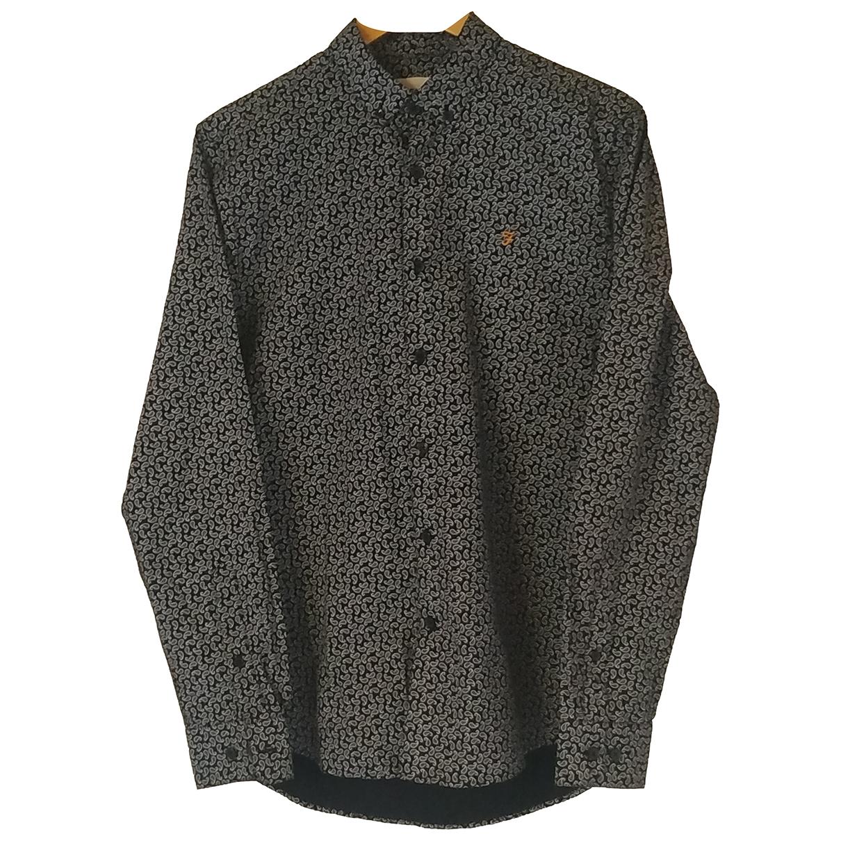 Farah N Black Cotton Shirts for Men M International