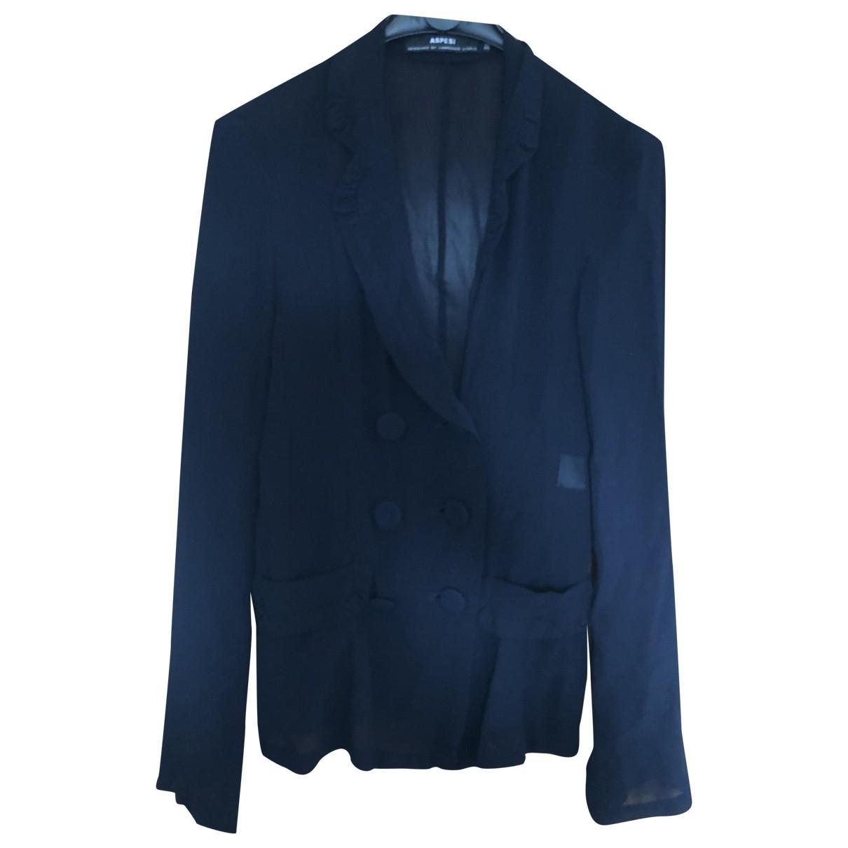 Aspesi \N Black Silk jacket for Women 38 IT