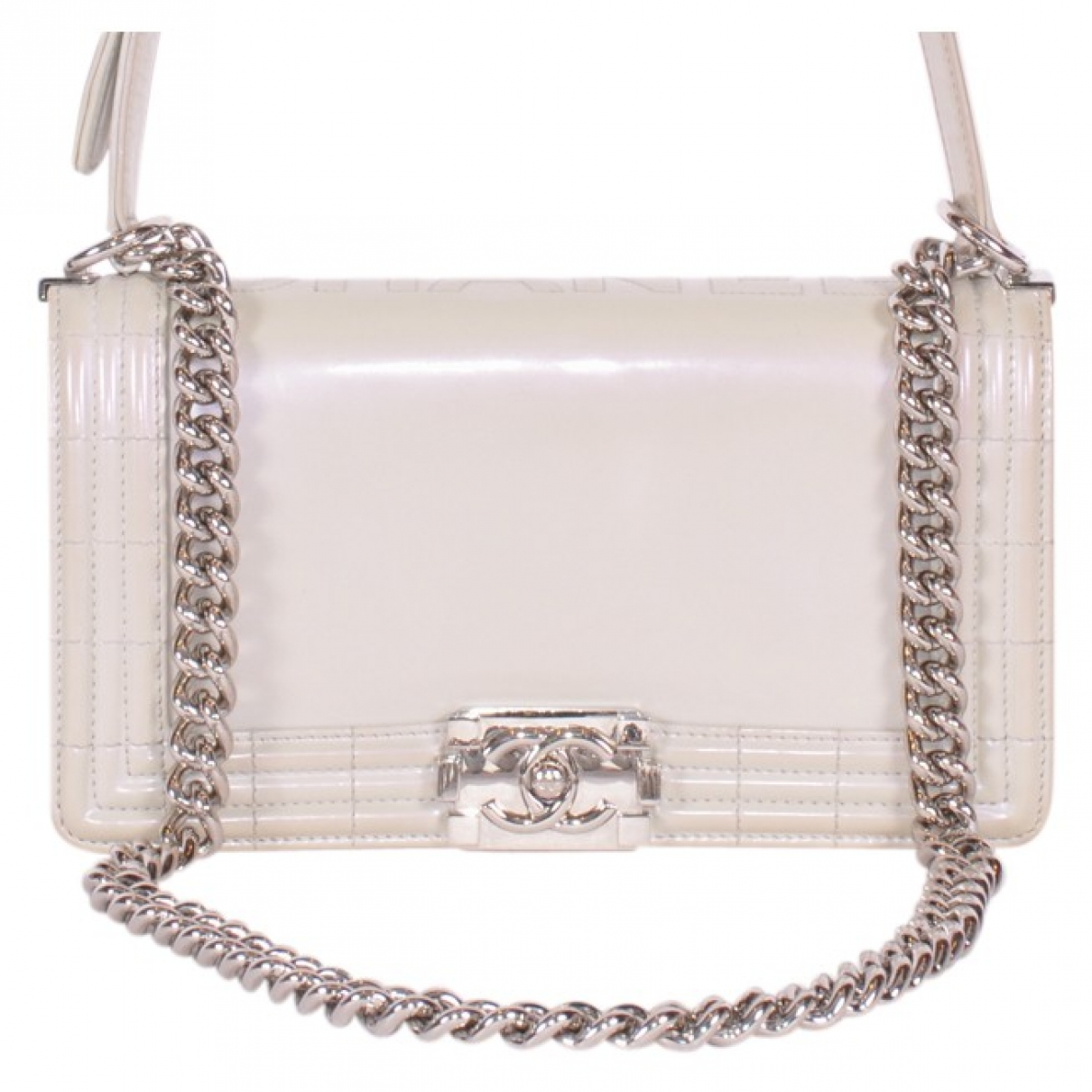 Chanel Boy Beige Patent leather Clutch bag for Women \N