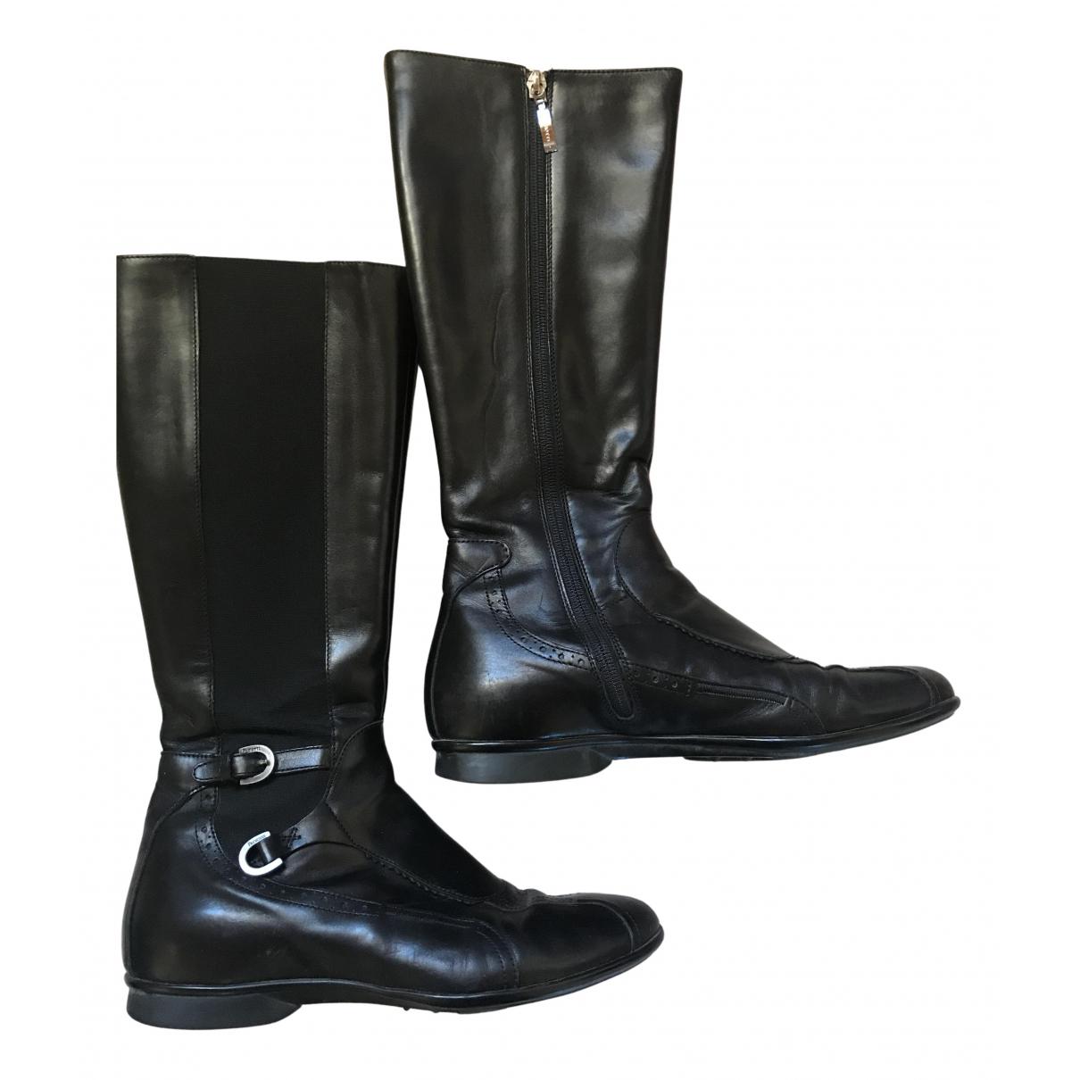 Cesare Paciotti \N Stiefel in  Schwarz Leder
