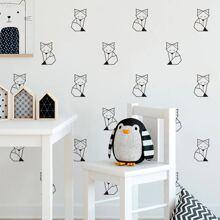 Kids Fox Print Wall Sticker