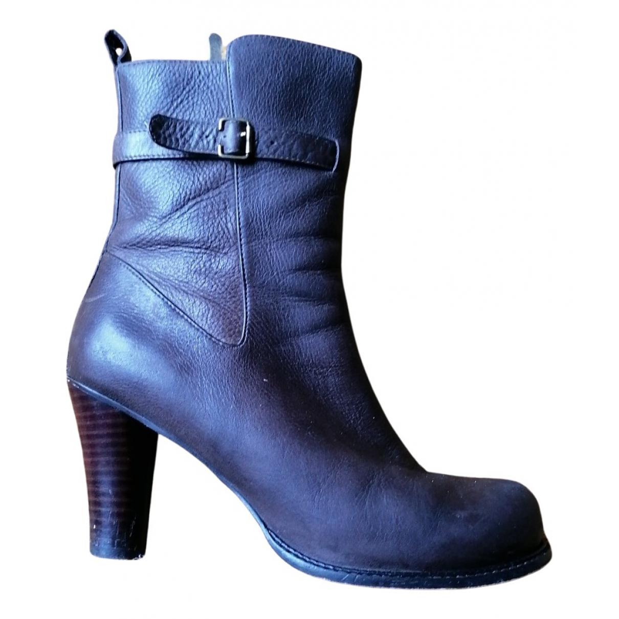 One Step \N Stiefel in  Braun Leder