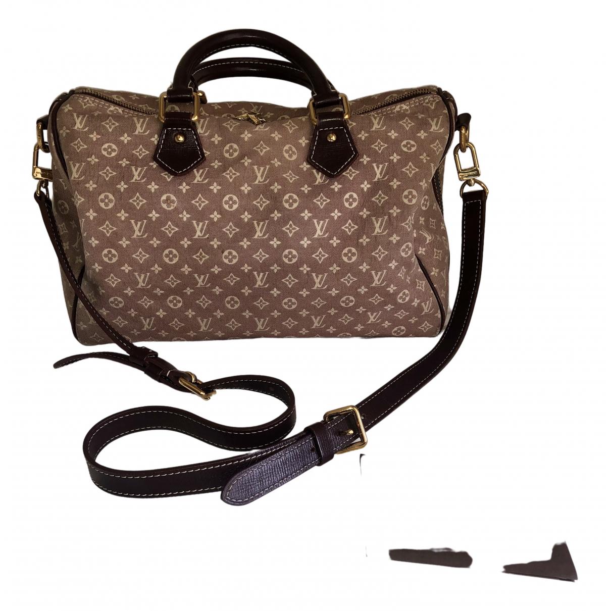 Louis Vuitton Speedy Bandoulière Pink Cloth handbag for Women N