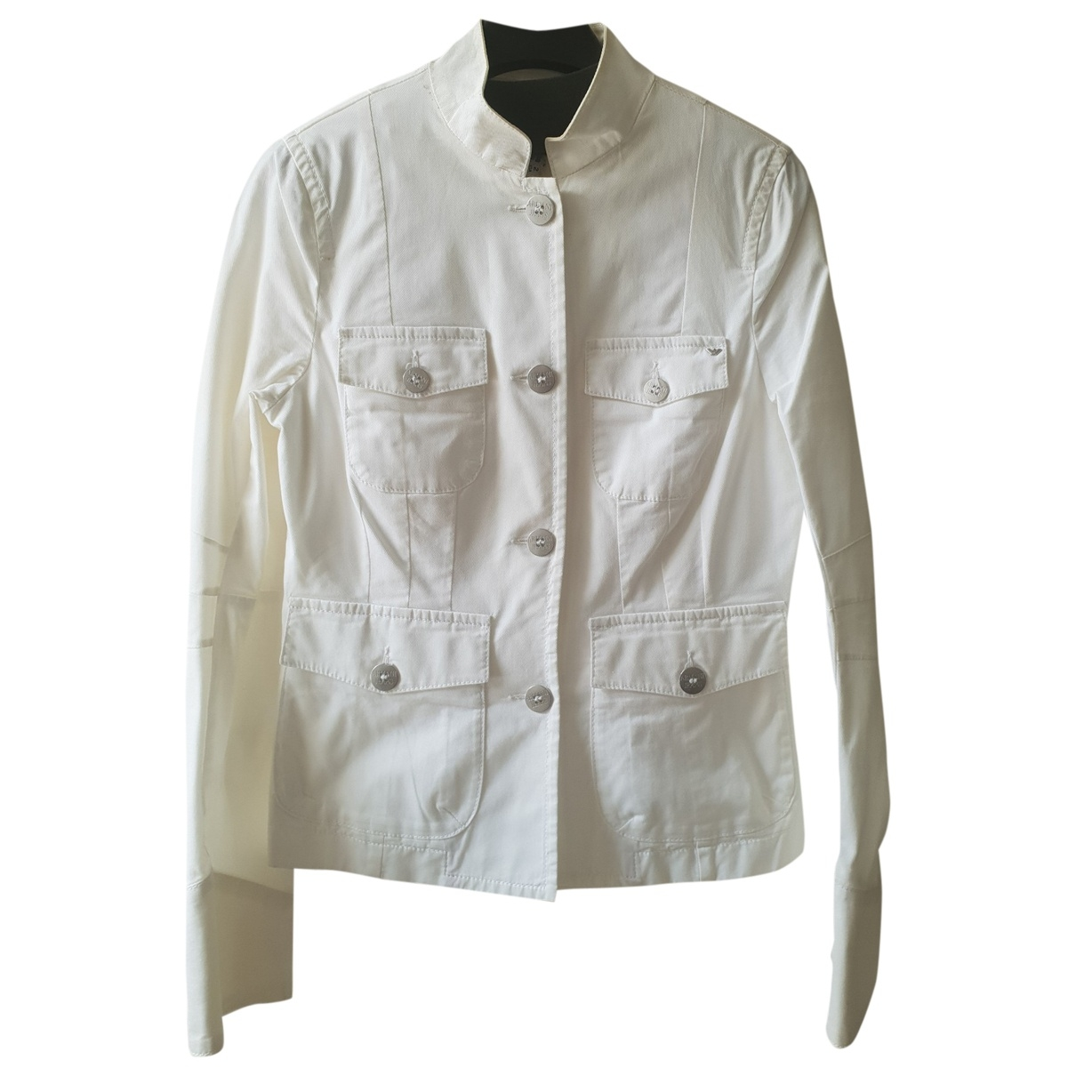 Armani Jeans \N White Cotton jacket for Women 2 US
