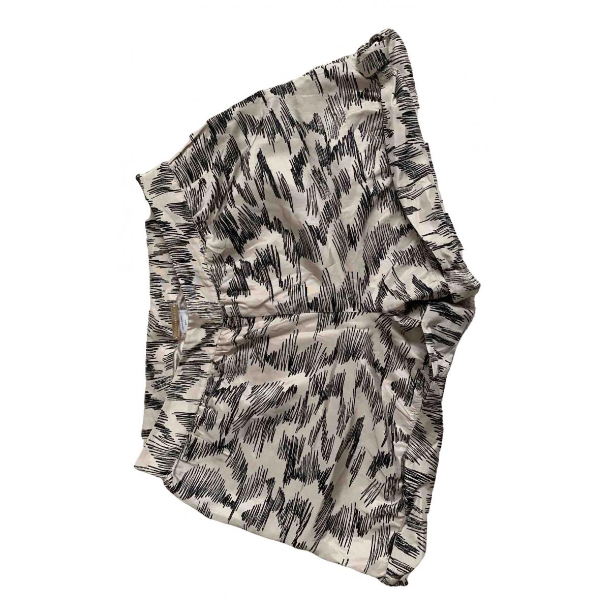 Loeffler Randall \N Ecru Silk Shorts for Women 2 US