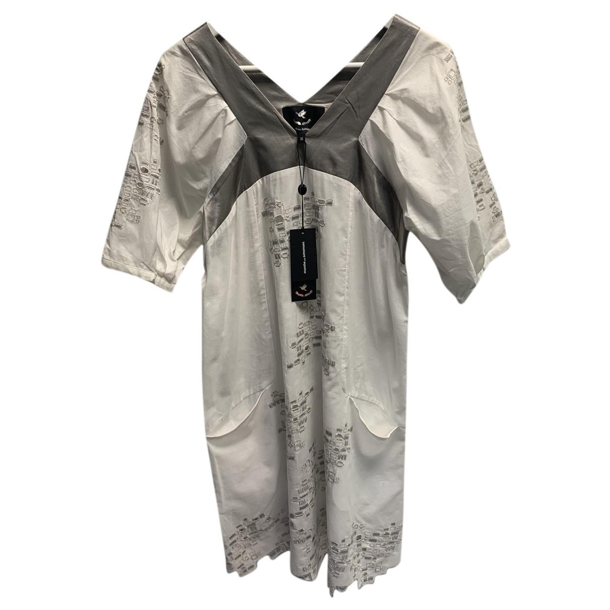 Munthe Plus Simonsen \N Kleid in  Weiss Baumwolle