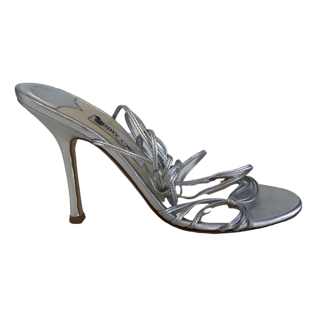 Jimmy Choo \N Silver Leather Sandals for Women 40.5 IT