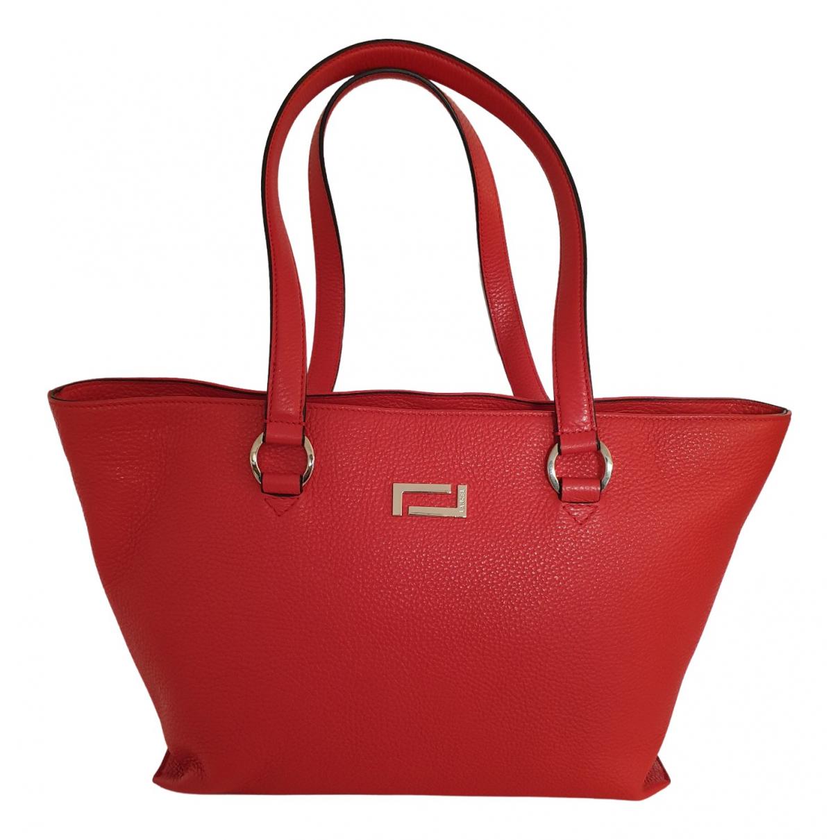 Lancel \N Handtasche in  Rot Leder