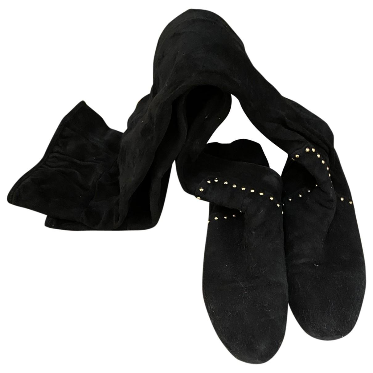 Charlotte Olympia - Bottes   pour femme en suede - noir
