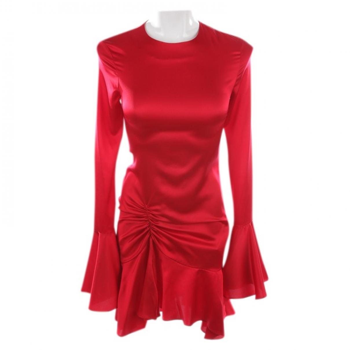 Caroline Constas - Robe   pour femme en soie - rouge