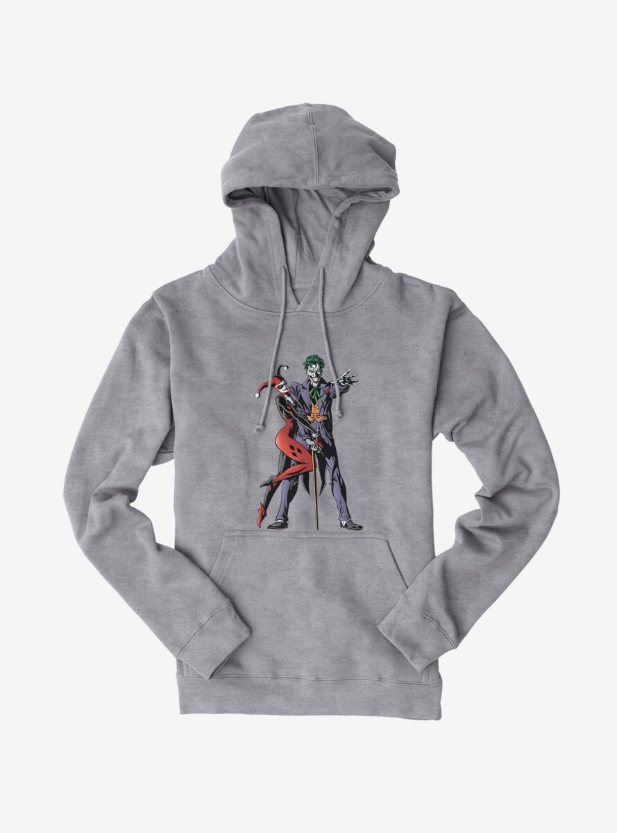 DC Comics Batman The Joker And Harley Quinn Together Forever Hoodie