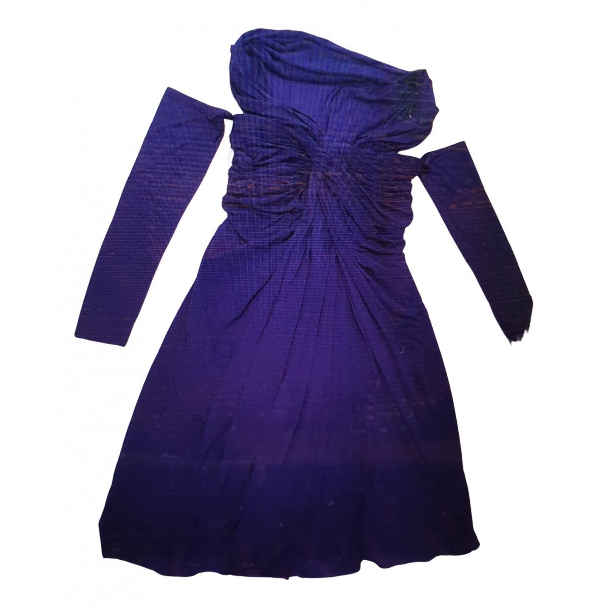 Donna Karan \N Kleid in  Lila Baumwolle - Elasthan